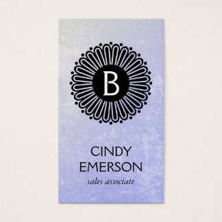 Monogram | Radial | Texture Business Card