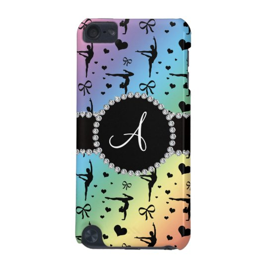Monogram rainbow gymnastics hearts bows iPod touch 5G