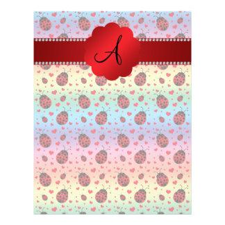 Monogram rainbow ladybugs hearts 21.5 cm x 28 cm flyer