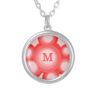 Monogram Red and Pink Circles Jewelry