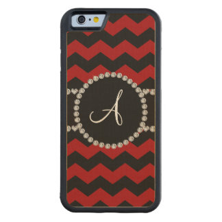 Monogram red black chevrons black stripe maple iPhone 6 bumper case