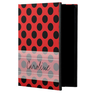 Monogram Red Black Cute Chic Polka Dot Pattern Powis iPad Air 2 Case