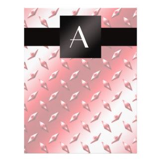 Monogram red diamond steel plate pattern 21.5 cm x 28 cm flyer
