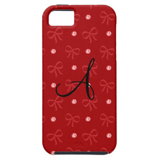Monogram red diamonds and bows iPhone 5 cover