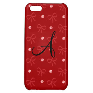 Monogram red diamonds and bows iPhone 5C cases