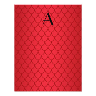 Monogram red dragon scales 21.5 cm x 28 cm flyer