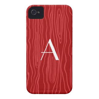 Monogram red faux bois blackberry bold cases