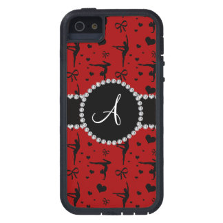 Monogram red gymnastics hearts bows iPhone 5 covers