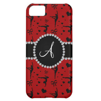 Monogram red gymnastics hearts bows iPhone 5C case