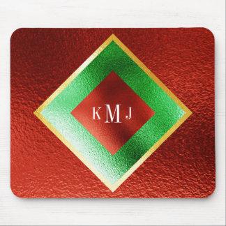 Monogram Red Minimalism Geometrical Mousepad