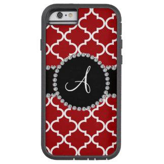 Monogram red moroccan quatrefoil tough xtreme iPhone 6 case