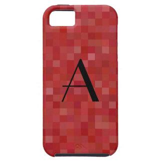 Monogram red mosaic squares iPhone 5 cover
