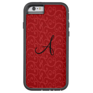 Monogram red swirls tough xtreme iPhone 6 case