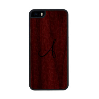 Monogram red swirls iPhone 6 plus case