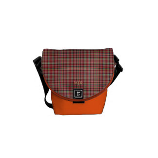 Monogram Reds and Yellows Scottish-style Tartan Courier Bags