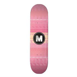 Monogram Retro Colorful Animals Pattern #4 Skate Board Deck
