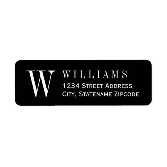 Monogram Return Address | Custom Colour Return Address Label