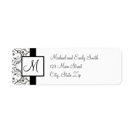Monogram Return Address Labels