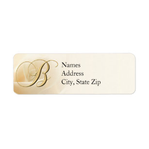 monogram return address labels letter b