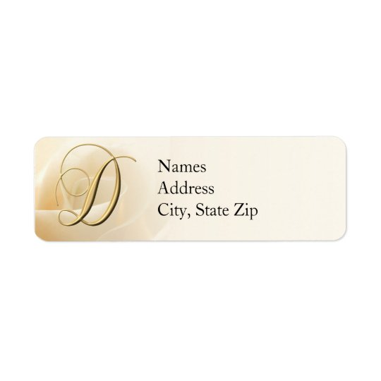Monogram Return Address Labels letter D