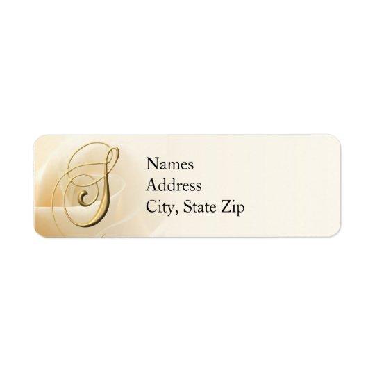Monogram Return Address Labels letter S