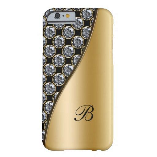 Monogram Rhinestone Case iPhone 6 Case
