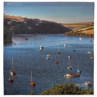 Monogram, River Avon at Bantham Napkin