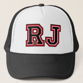 Monogram 'RJ' initals Trucker Hat
