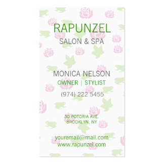 Monogram Roses Double-Sided Standard Business Cards (Pack Of 100)