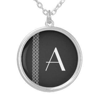 Monogram Round Pendant Necklace