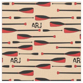Monogram Rowing Oars Red Fabric