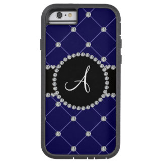 Monogram royal blue tuft diamonds tough xtreme iPhone 6 case