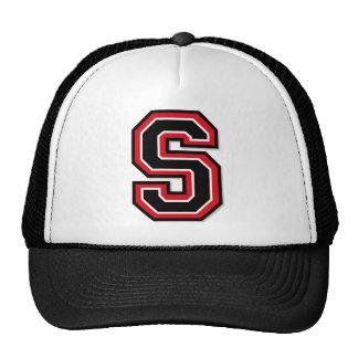 Monogram 'S' initial Mesh Hat