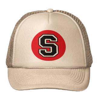 "Monogram ""S"" initial Hats"