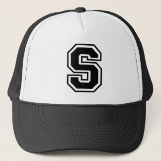 Monogram S initial Trucker Hat