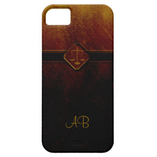 Monogram Scales of Justice iPhone 5 Cover