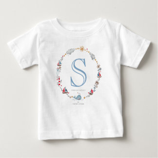 Monogram Sea Whale | Baby Boy | T-shirt