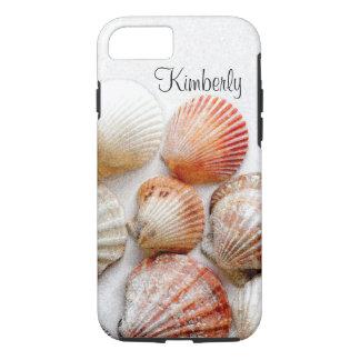 Monogram Seashells Art iPhone 7 Case