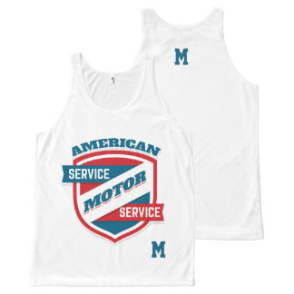 Monogram Series: American Motor Service. All-Over Print Tank Top