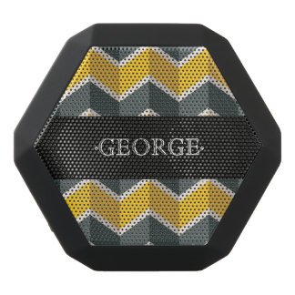 Monogram Series: Classic Chevron Pattern. Black Bluetooth Speaker