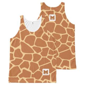 Monogram Series: Cute Giraffe. All-Over Print Tank Top