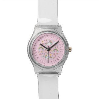 Monogram Series: Cute Unicorns Stars & Diamonds Wristwatches