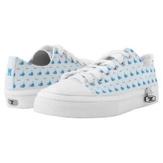 Monogram Series: Cute Whales. Low Tops