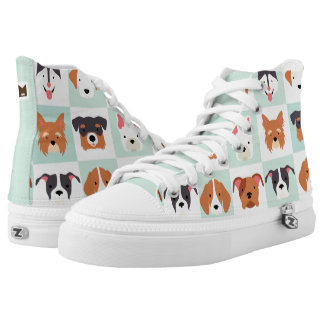 Monogram Series: Dog Profiles. Printed Shoes