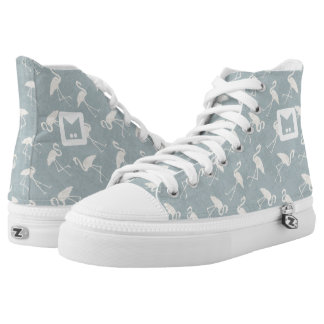 Monogram Series: Flamingo Silhouette. High Tops