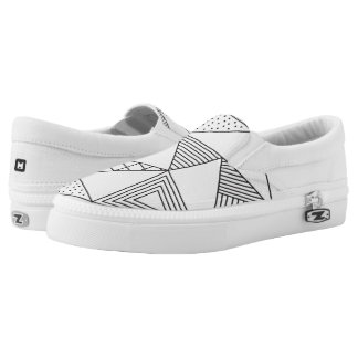 Monogram Series: Geometric Pattern. Slip On Shoes
