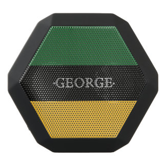 Monogram Series: Green and Yellow. Black Bluetooth Speaker