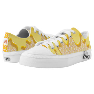 Monogram Series: Honeycomb with Honey Drip. Printed Shoes