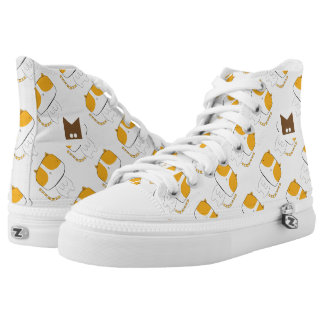 Monogram Series: Kawaii Cute Cats. High Tops