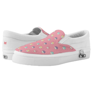 Monogram Series: Kawaii Cute Frosted Cupcakes. Printed Shoes